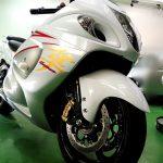 2015/9 スズキ・GSX1300R隼  PROMAX EXE 汚れやすいオートバイですがコーティングにより洗い易くなっております。  撥水状態が弱くなってきた場合は洗車、もしくは差し上げたメンテナンス剤を使ってみて下さい。札幌市手稲区よりご利用ありがとうございました。