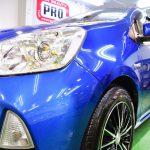 2016/6 トヨタ・アクア(ブルーメタリック) PRO PCX-V110ガラスコーティング 北広島市よりご利用ありがとうございました。
