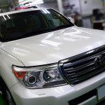 トヨタ・ランドクルーザー200(ホワイトパールクリスタルシャイン) Upgrade 札幌「お車のガラスコーティング」