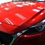 マツダ・アクセラスポーツ(ソウルレッド) PCX-S7コーティング 札幌「お車のガラスコーティング」