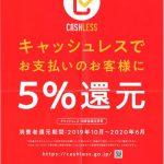 カービューティープロ札幌ドーム前は5%還元 キャッシュレス・消費者還元事業加盟店です。