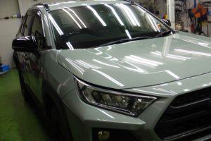 2020/1 トヨタ・新型RAV4 Adventure(アーバンカーキ)コーティング部分再施工 お客様へご報告 札幌中央区よりご利用ありがとうございました。