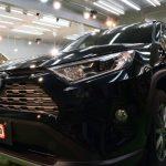 トヨタ・新型RAV4(アティチュードブラックマイカ)札幌市豊平区より【スタンダード】親水タイプ(PX-V300)ガラスコーティングのご利用ありがとうございました。