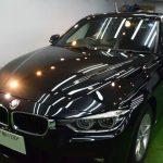 BMW・320(ブラックサファイア)富良野市より【スタンダードガラスコーティング】PRO PCX-S8(撥水・耐擦り傷・艶・防汚性)のご利用ありがとうございました。